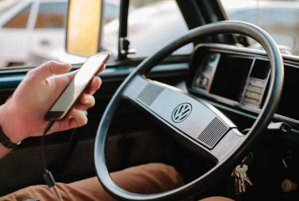 gray Volkswagen vehicle steering wheel