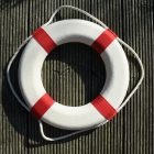 white and red life ring